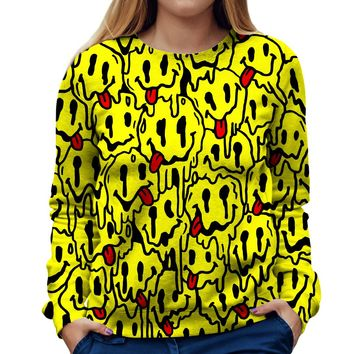 Trippy Emoji Womens Sweatshirt
