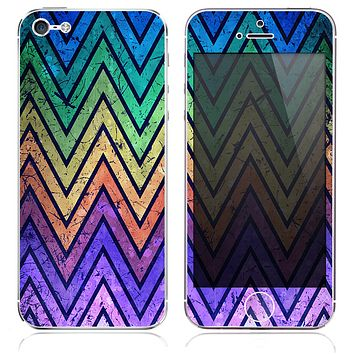 The Inverted Grunge Sharp Chevron Textured Skin for the iPhone 3, 4-4s, 5-5s or 5c