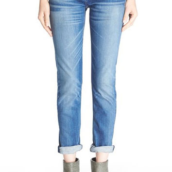 'The Dre' High Rise Slim Fit Boyfriend Jeans (Stoke)