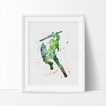 Link Watercolor Art Print