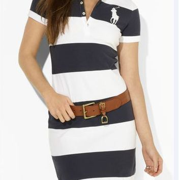 NEW POLO RALPH LAUREN SHIRT WOMEN SKIRT SHORT SLEEVE T-SHIRT SIZE: S-XL-5