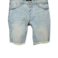 Cut-Off Denim Shorts- Light Wash