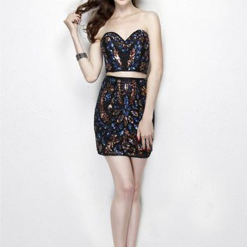 Primavera Couture - 1919 Two Piece Sequined Dress