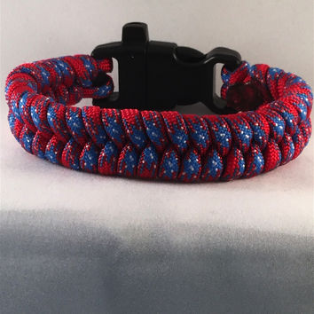 Spiderman Fishtail Paracord Bracelet with emergency Whistle Buckle