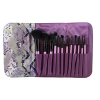 SET 693 - 12 PIECE PURPLE SET W/ SNAKESKIN CASE **NEW**