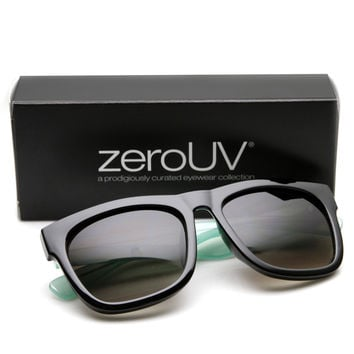 "Zerouv + Plus ""Marlene"" Womens Oversize Horned Rim Two Tone Sunglasses"