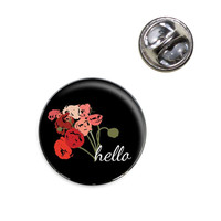 Hello Bouquet Flowers Ranunculus Lapel Pin