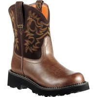10000824 Women's Fatbaby Bump Toe Western Ariat from Bootbay, Internet's Best Selection of Work, Outdoor, Western Boots and Shoes.