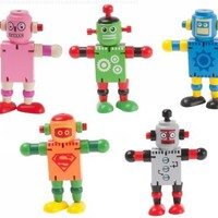 J.I.P. Wooden Robot Toy, Color May Vary