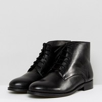 Park Lane Leather Lace Up Flat Boot at asos.com