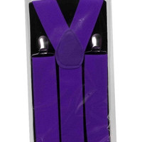 Neon Purple Suspenders