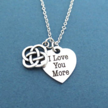I love you more, Celtic knot, Heart, Silver, Bangle, Bracelet, I love you, Love, Celtic, Knot, Gift, Jewelry