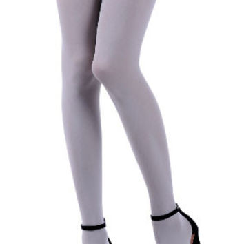 Light Grey Opaque Tights by Zohara