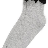 Women's TOPSHOP Lace Trim Ankle Socks