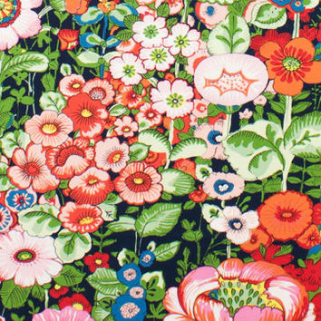 Alexander Henry Fabric Flores de Coyoacan Dark Marine By the Yard