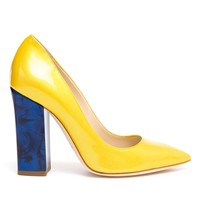 POLLINI | Patent Leather Pumps with Marbled Heel | Browns fashion & designer clothes & clothing