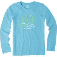 Women's Night Woods Long Sleeve Crusher Tee