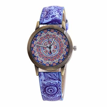 Chinese Style Women's Simple Watches Hot Design PU Leather Watches Women Fashion Watch 2017 Discount Reloj