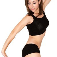 Midriff Tank Top & Low Rise Stretch Knit Shorts by KD dance New York Dance Class to Yoga Made In USA