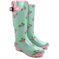 NEW WOMENS SNOW FESTIVAL WELLYS WELLIES WELLINGTONS FLAT KNEE BOOTS SIZE 3-8