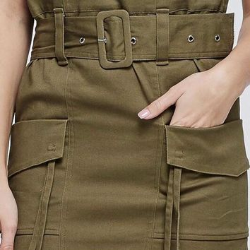 Army Green Utility Skirt