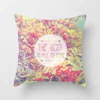 Quote Throw Pillow by Jane Mathieu | Society6