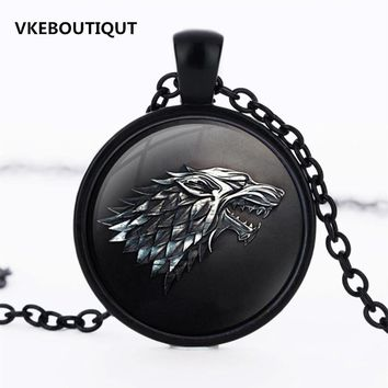 Game of Thrones House of Stark Black Wolf Pendant