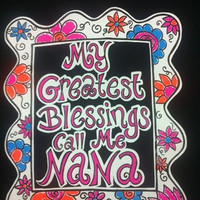 Southern Chics Funny Greatest Blessing Nana Sweet Girlie Bright T Shirt