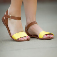 The Places You'll Go Sandals-Yellow