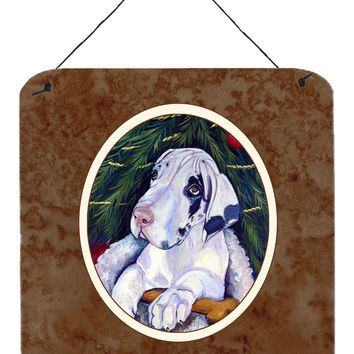 Christmas Tree with Harlequin Great Dane Wall or Door Hanging Prints 7172DS66