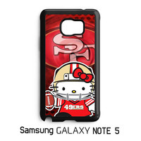 hello kitty SF 49ers Samsung Galaxy Note 5 Case