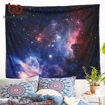 BeddingOutlet Galaxy Tapestry Stars in the Universe Decorative Wall Tapestry 3D Printed Room Dorm Tapestry 130x153cm 203x153cm