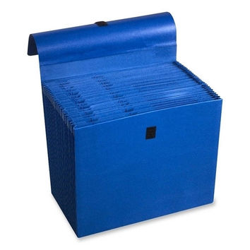 "acco/wilson jones expanding file, 31 pockets, labeled 1-31, 10""x12"", dark blue"