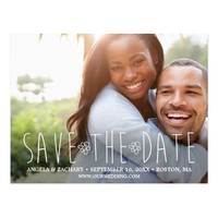 Modern Hand-lettered Save The Date Postcard
