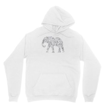 elephant filled pattern cool Unisex Hoodie