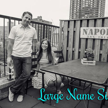 Family Name Signs | Wood Last Name Signs | Last Name Established | Rustic Last Name Sign | Personalized Wedding gift | Wooden Anniversary