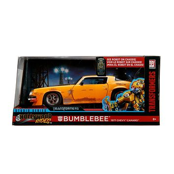 Jada Diecast Metal 1:24 Scale Transformers Chevy 1977 Camero Bumblebee  Presell 4/30 Release