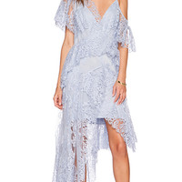 Zimmermann Seer Drape Dress in Blue