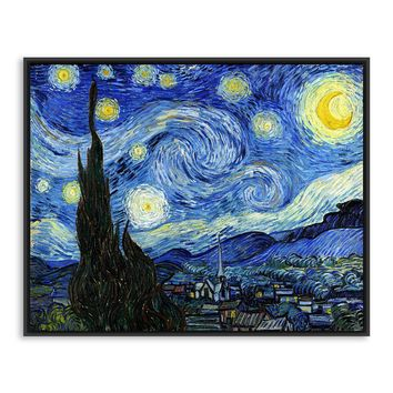 Starry Night Vincent Van Gogh Famous Artist Impressionism Landscape Art Print Poster Wall Picture Oil Canvas Painting Home Decor