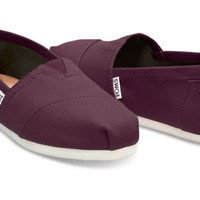 Toms Women's Classics Slip On Red Mahogany