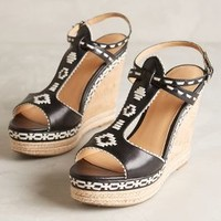 Belle by Sigerson Morrison Aivi Wedges by Anthropologie Black & White
