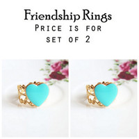 Bridesmaid Ring, Gift, Friendship Ring, Sisters Ring, Christmas, Best Friend Ring, Heart Ring, Mother Daughter, Grandmother