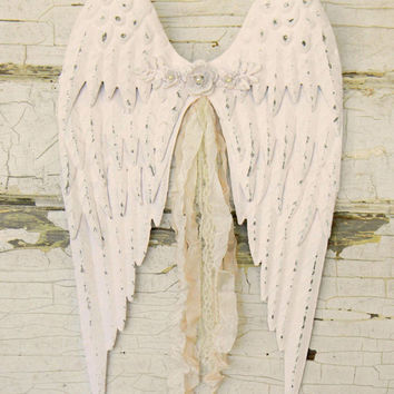 Angel Wing Wall Decor, Angel Wings, Angel Wing Decor, Angel Decor, Nursery Decor, Nursery Wall Decor, Metal Angel Wings, Angel Wall Decor