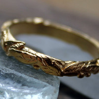 14K Gold Vermeil Vine Ring