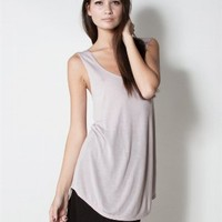 SLEEVELESS TUNIC at LNA Clothing in  Mauve holiday11