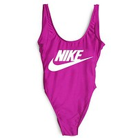 NIKE SWIMMER SWIM TAN TOP VEST SHIRT V NECK WOMEN LETTERS BOTTOMING CLOTHES