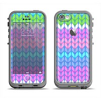 The Bright-Colored Knit Pattern Apple iPhone 5c LifeProof Fre Case Skin Set