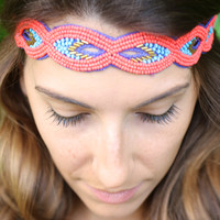 Bonaroo Headband in Bright Coral