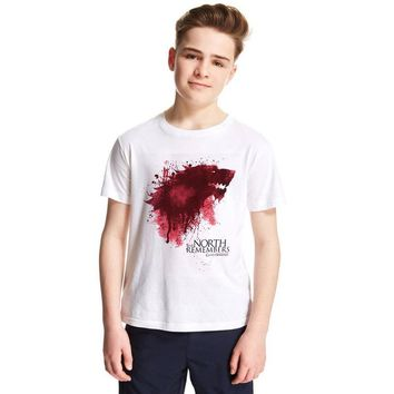 2018 Kids Summer Short Sleeve White T-shirts Children Girl Boy Game of Thrones T Shirt Baby Casual Fashion Tops Tees