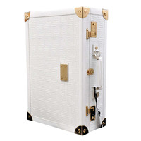 New GIANNI VERSACE COUTURE EMBROIDERED WHITE LEATHER SUITCASE